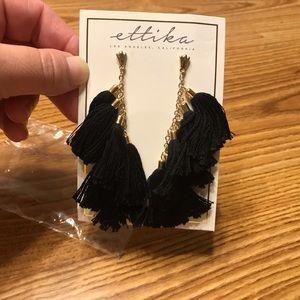Ettika 18k Gold Plated Fringe Earrings
